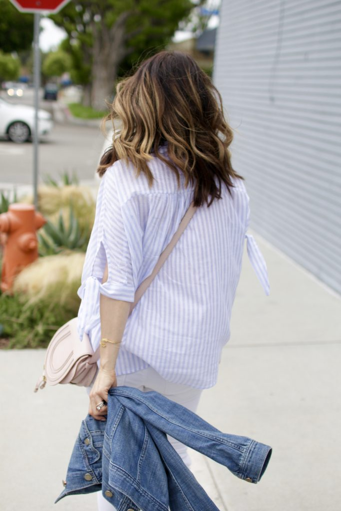 stripe top, itsy bitsy indulgences