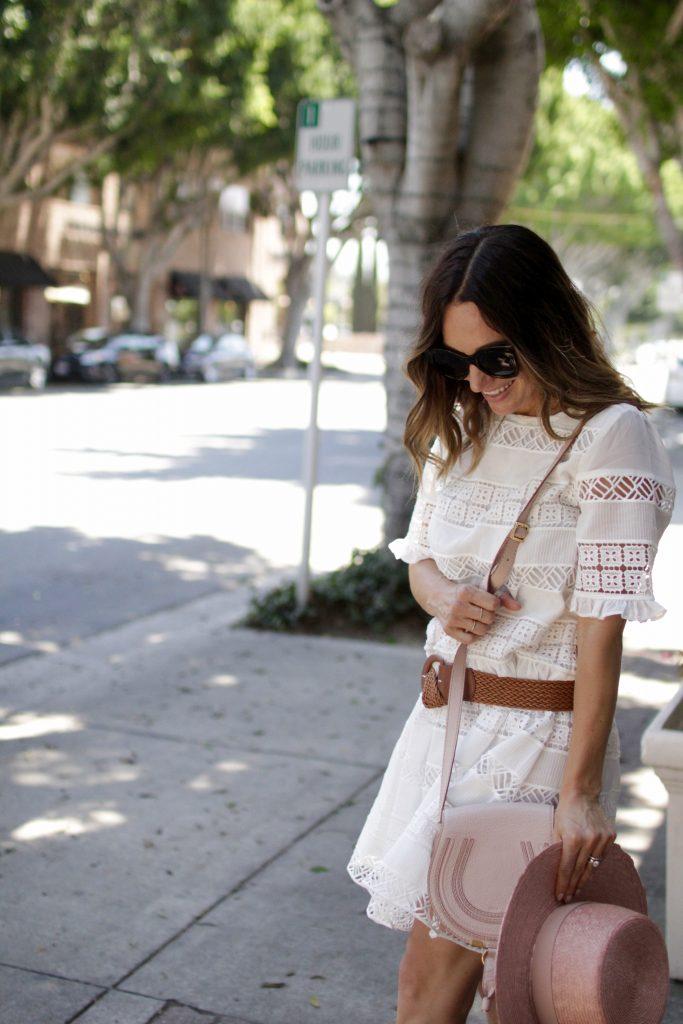 white lace dress, itsy bitsy indulgences
