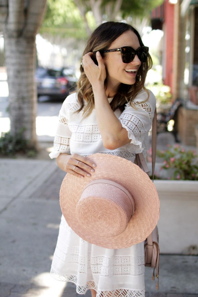 pink janessa leone bolero hat, itsy bitsy indulgences