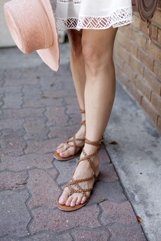 rope lace up sandals, itsy bitsy indulgences
