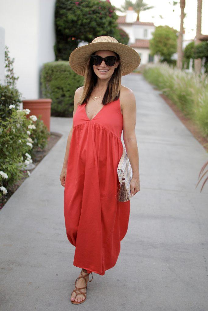 summer red dress, itsy bitsy indulgences