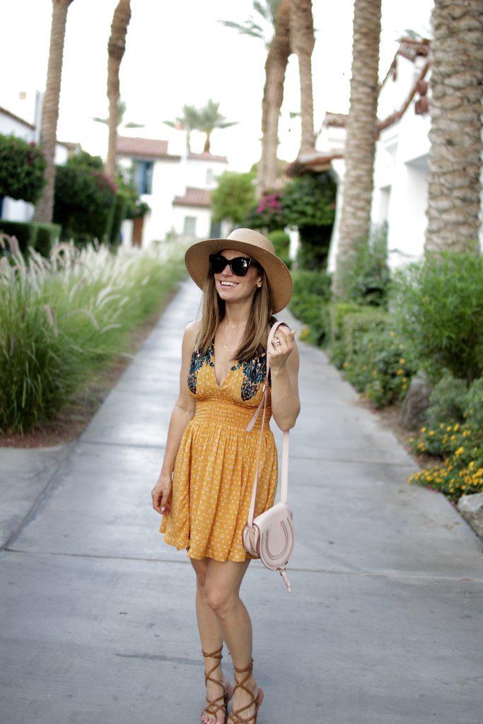 summer free people dress, itsy bitsy indulgences