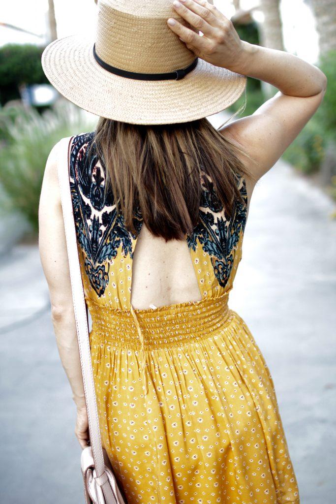 open back summer dress, itsy bitsy indulgences