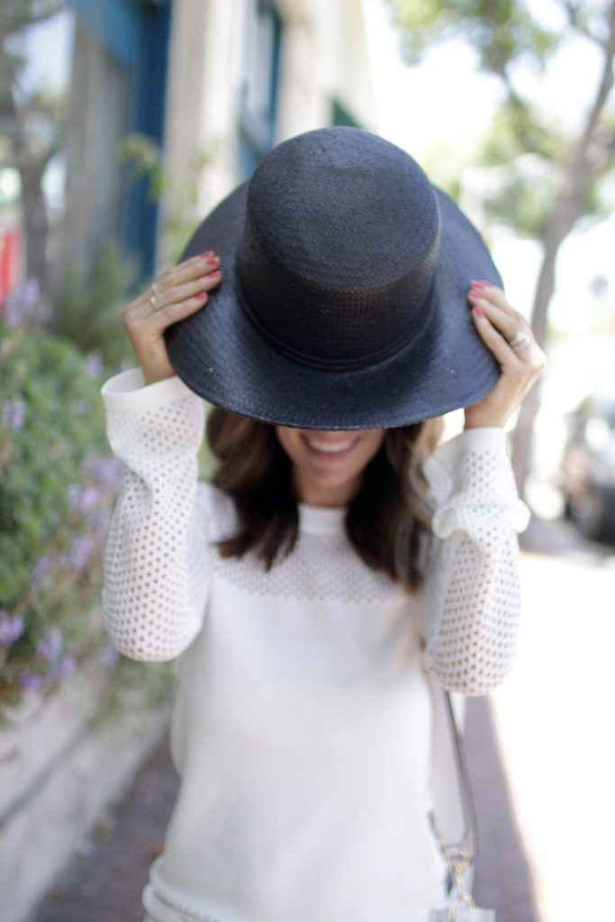 black boater hat, itsy bitsy indulgences