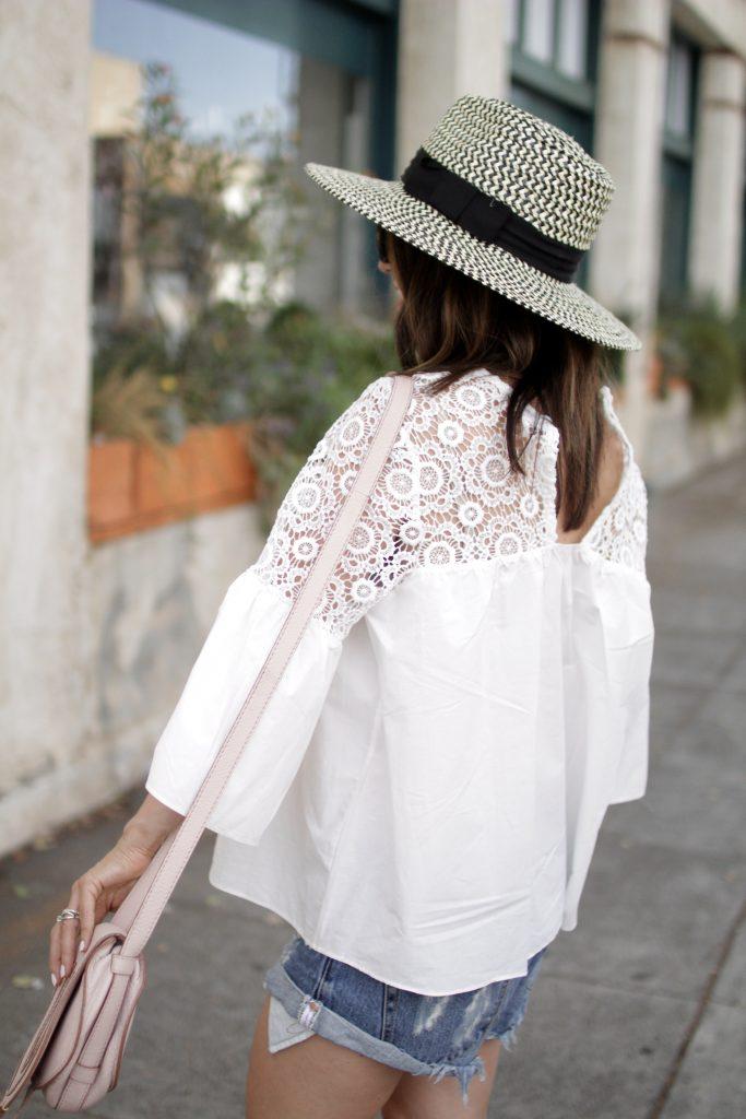 white lace top, itsy bitsy indulgences