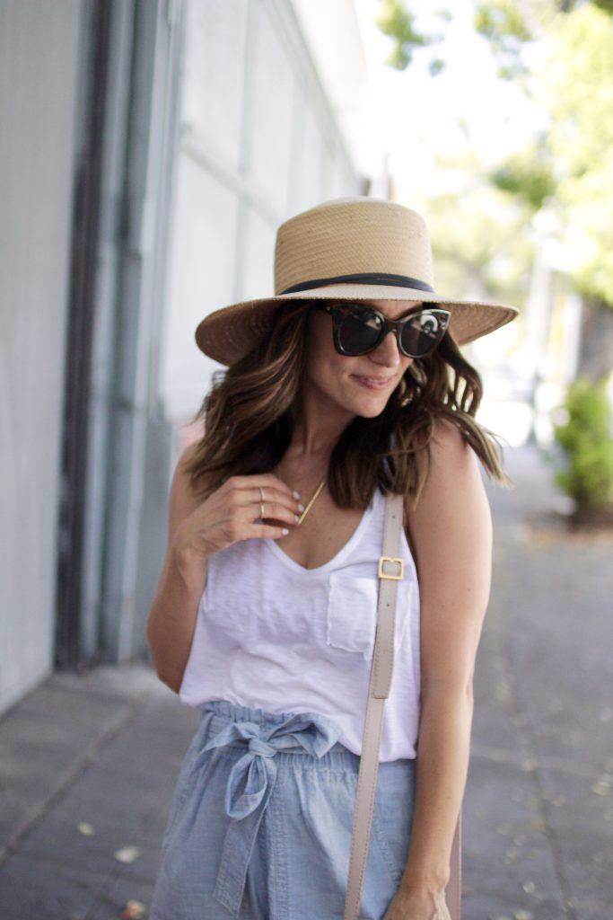 summer straw hat, itsy bitsy indulgences