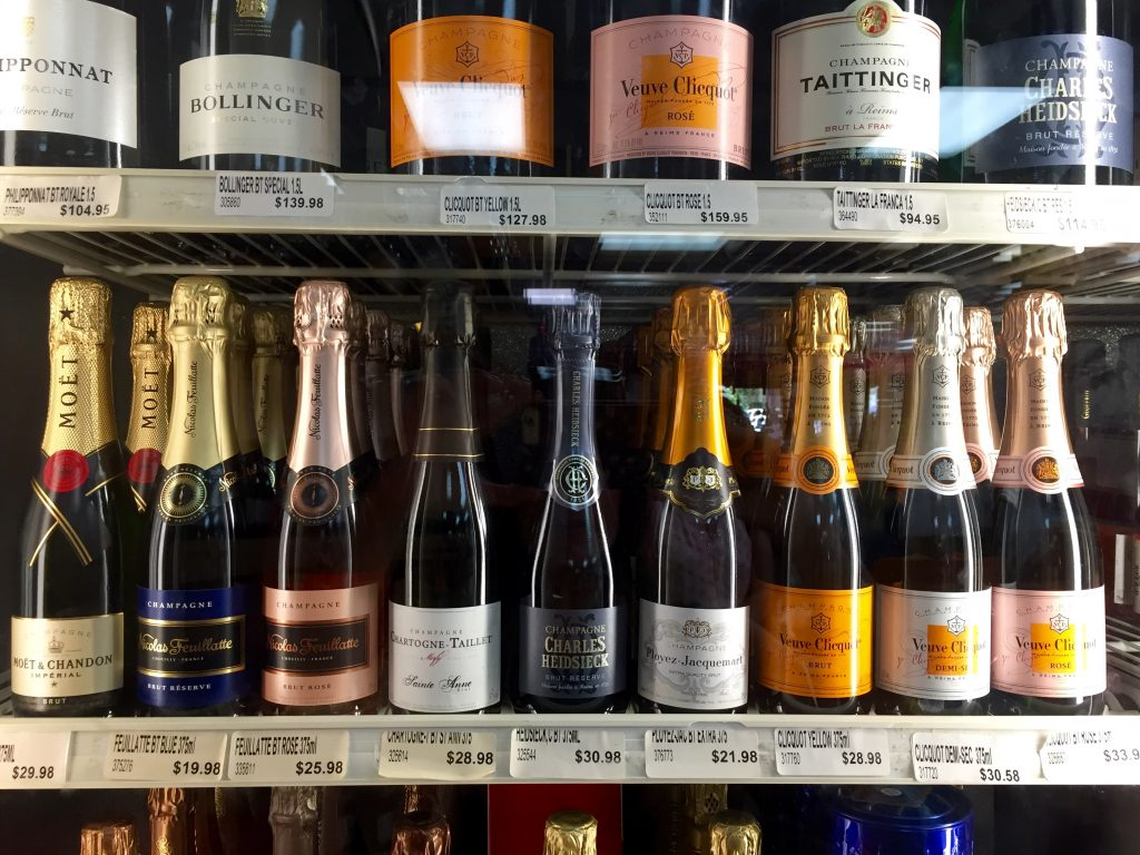 champagne, itsy bitsy indulgences