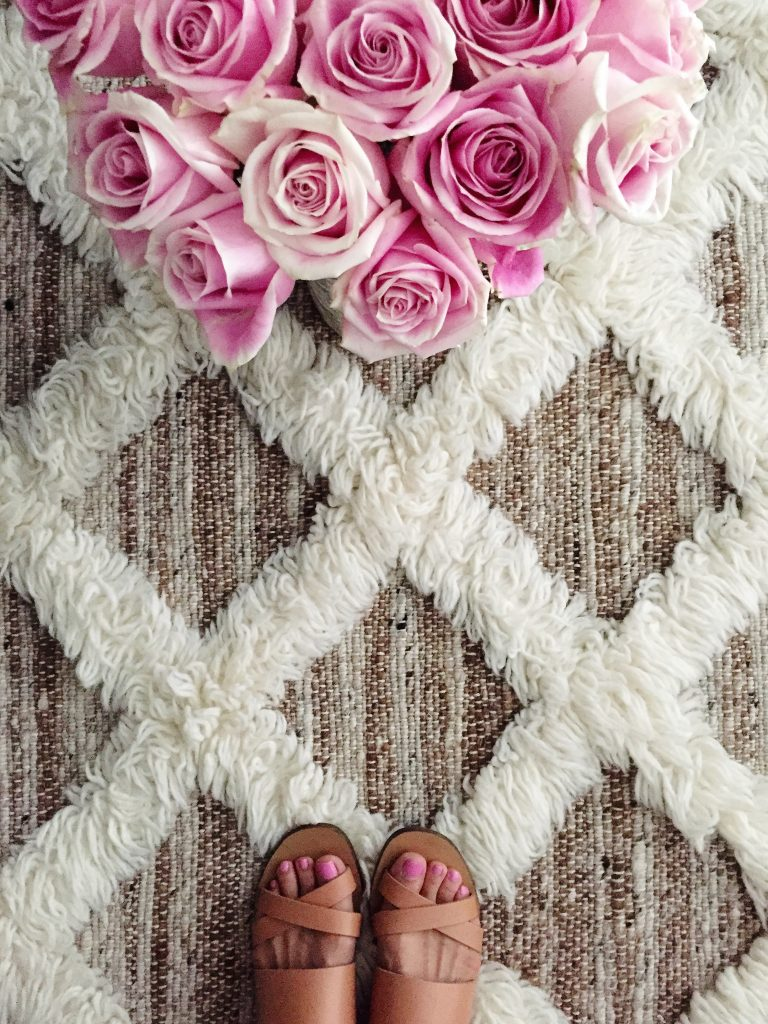 anthropology rug, itsy bitsy indulgences