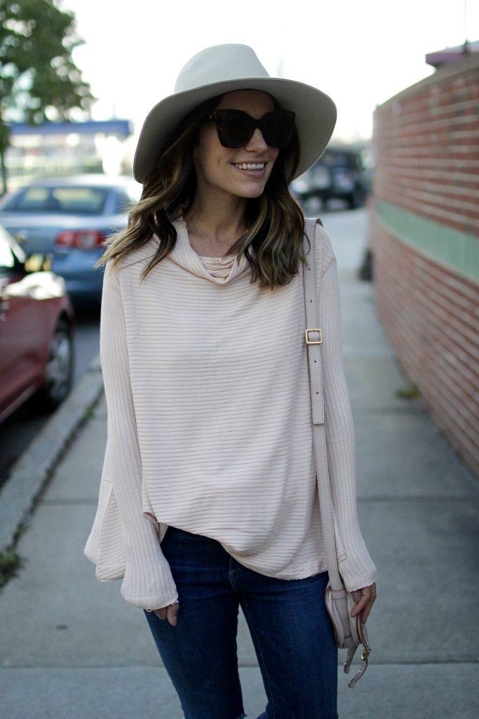 blush sweater, itsy bitsy indulgences