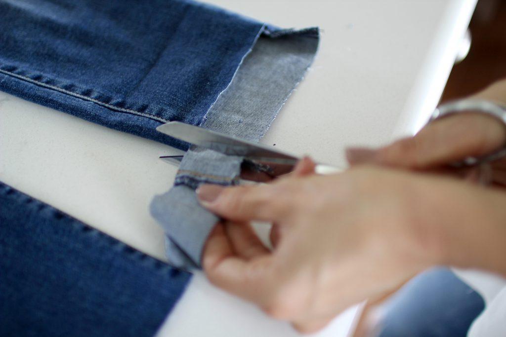 diy step hem jeans, itsy bitsy indulgences