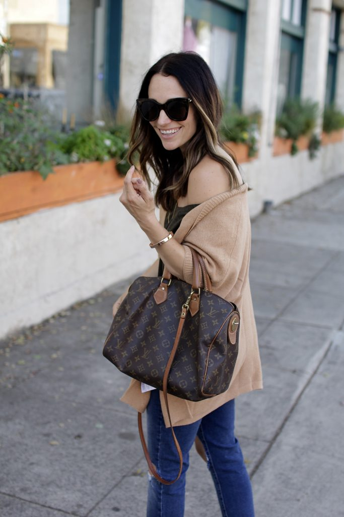 fall camel cardigan, itsy bitsy indulgences