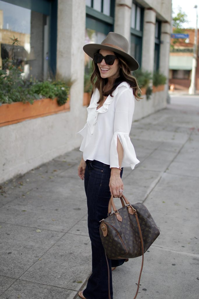 bell sleeves + flared jeans, itsy bitsy indulgences