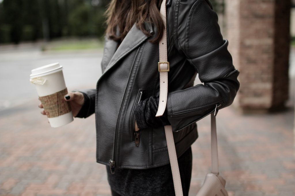 grey x black fall outfit, itsy bitsy indulgences