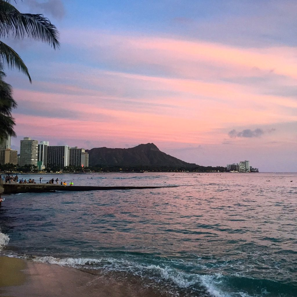 diamond head sunset, itsy bitsy indulgences