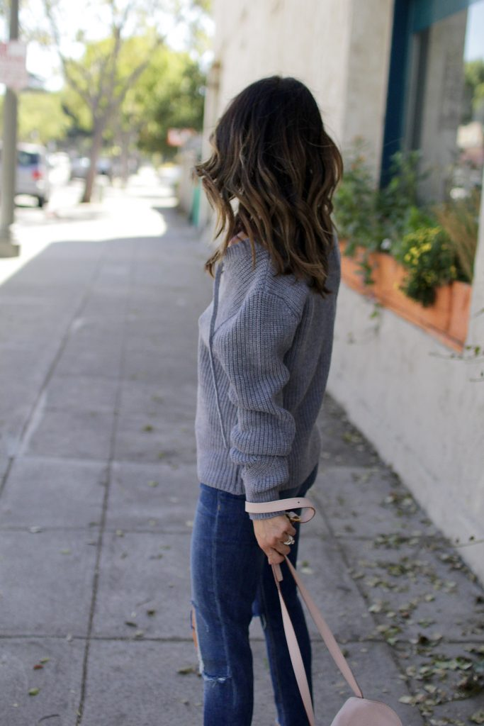grey chunky knit sweater, itsy bitsy indulgences