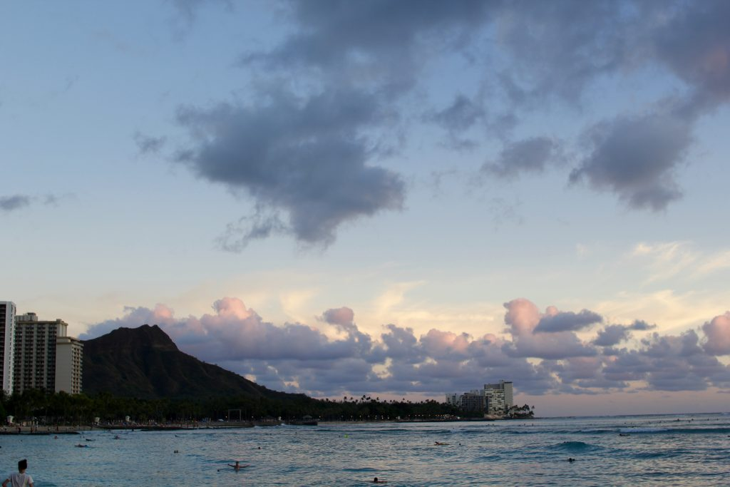 diamond head at sunset, itsy bitsy indulgences