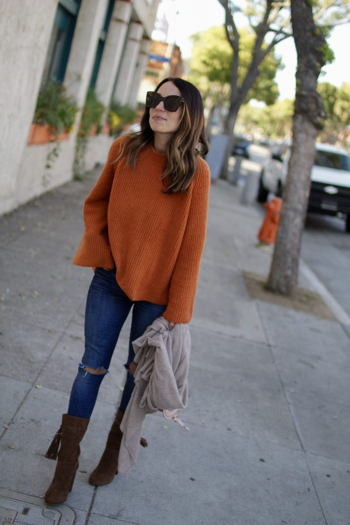 oversized bell sleeve sweater, itsy bitsy indulgences