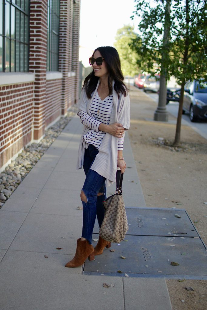 striped top for layering, itsy bitsy indulgences