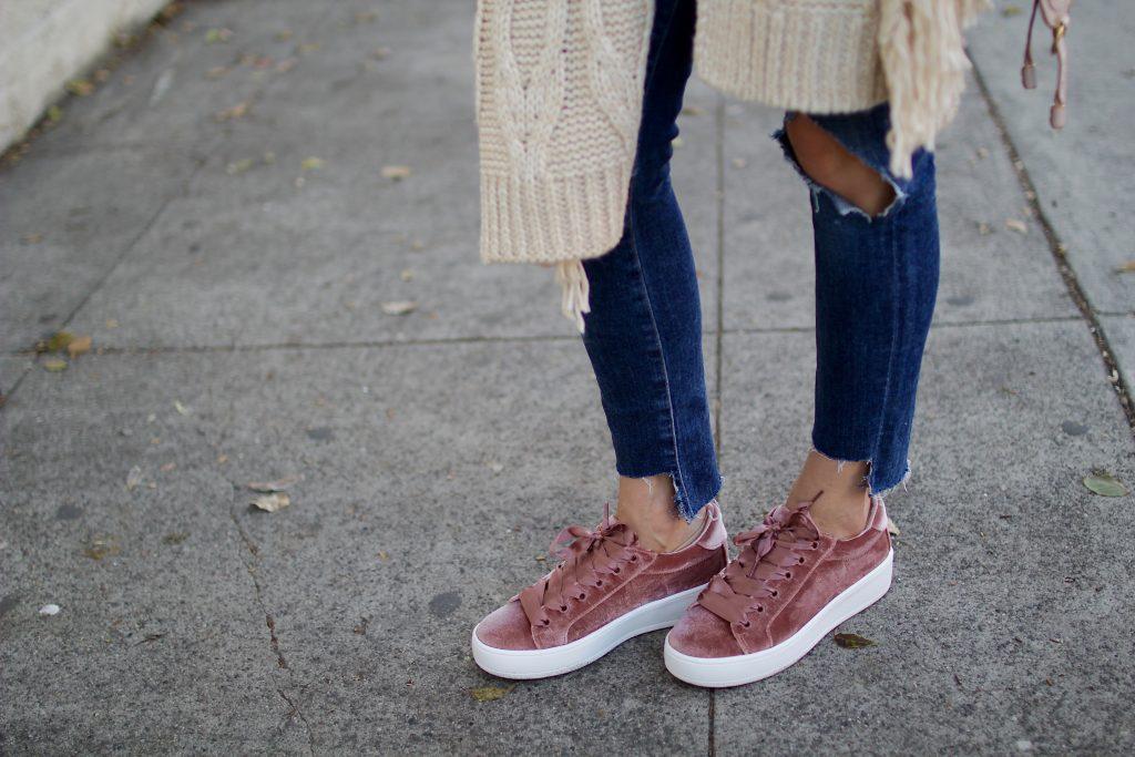 velvet platform sneakers, itsy bitsy indulgences
