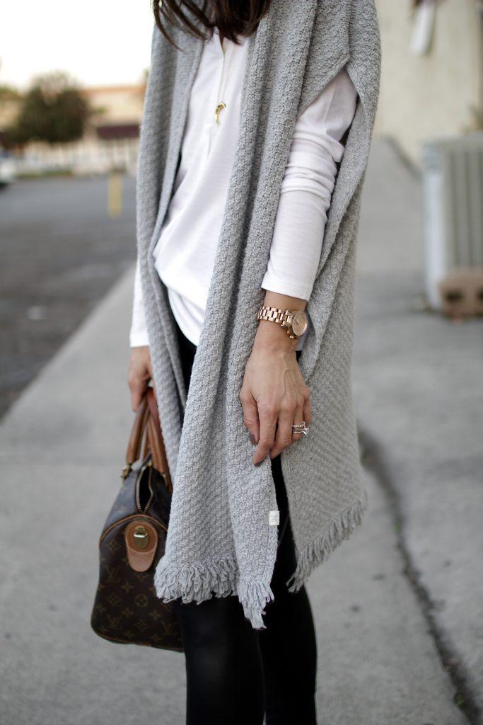 knit poncho, itsy bitsy indulgences