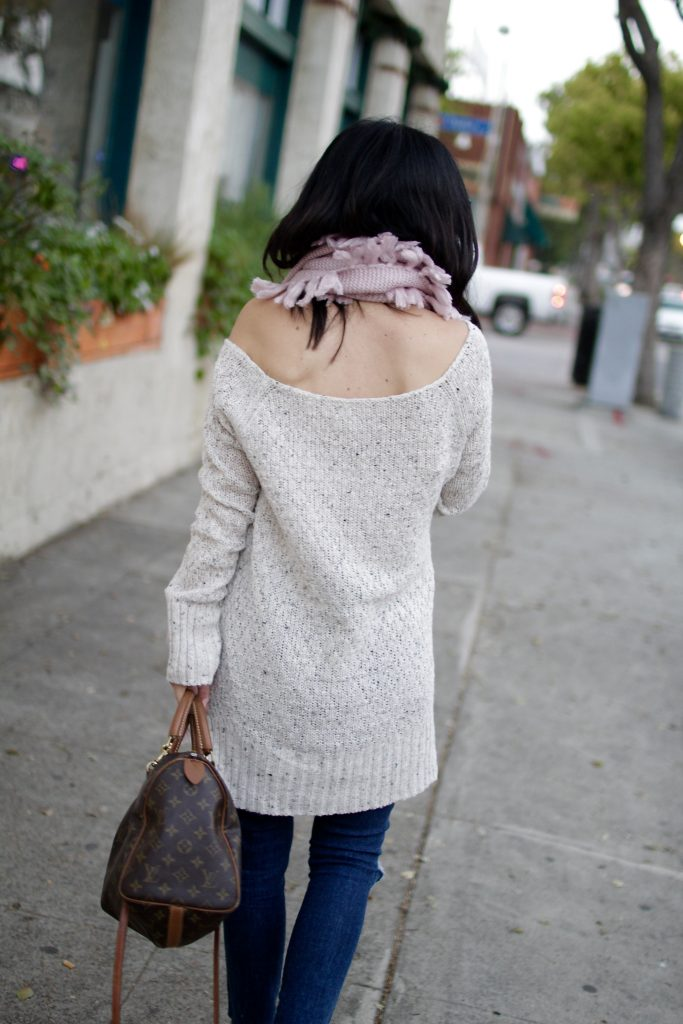 oversized winter knit, itsy bitsy indulgences