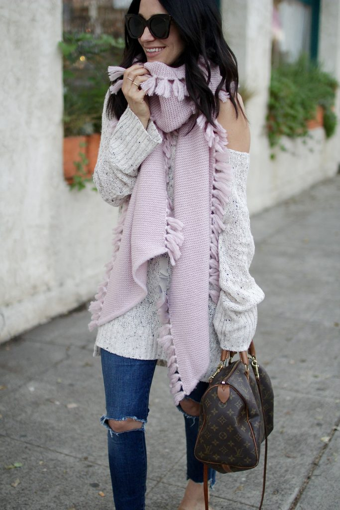 thanksgiving outfit idea, chunky sweater, itsy bitsy indulgences